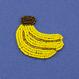 モチーフビーズワッペン/バナナ