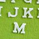 アルファベットワッペン(ブロック体S) / ホワイト