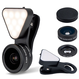 《全商品送料無料》 3in1 スマホ用カメラレンズ LQ-041 超広角レンズ 0.36X マクロレンズ 15X LEDライト 【1年間のメーカー安心保証付き】