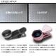 《全商品送料無料》3in1 スマホ用カメラレンズ LQ-035P HD広角レンズ 0.6X HDマクロレンズ 15X LEDライト ケラレなし 四隅の歪みなし 【1年間のメーカー安心保証付き】