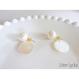 pearl × shell ピアス