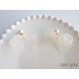 【全2色】pearl × ribbon キャッチピアス