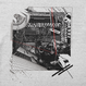 Logic System × Kosuke KAWAMURA  Synth Collage Tshirt (mix gray)