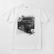 Logic System × Kosuke KAWAMURA  Synth Collage Tshirt (white)