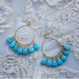Blue turquoise pierced