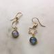 """The  moon&star"" Labradorite pierced"