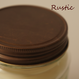 live candle -MASON antique lid-