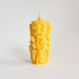 rose candle yellow beeswax