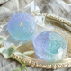 Jelly floating moon candle 【blue × violet】