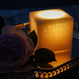 cube candle with message