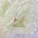 14k ユニセックス 8mm オールドイングリッシュ ダイヤモンド
