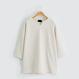 [メンズ] Vベンツ・オーバーフィット・七分Tシャツ - 4Color