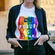タイムアウト'Proud as F**k'コットンTシャツ / Time Out 'Proud as F**k' cotton T-shirt ( S, M, L )