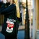 タイムアウト'Warhol' 黒キャンバストートバッグ / Time Out 'Warhol' black canvas tote bag