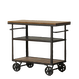 Iron Wooden Trolley cart 「RYAN」
