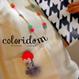 オレンジヘアガール orange hair girl  | ビーズブローチ hand made beads brooch