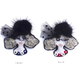 Miss.Black fur(ミス・ブラックファー)    ビーズブローチ Hand made beads brooch.