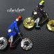 自転車ガール a bicycle rider | ビーズブローチ hand made beads brooch