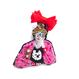 赤いリボンの女の子 | ビーズブローチ hand made beads brooch