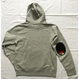 "PENDLETON×MB7r HOOD SWEAT ASH GRAY ""OVER ALL BEIGE"""