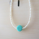 Grass Beads Bracelet (sky blue)