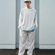 Elastic Twill Popper Sweat/ASH BLUE