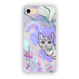 "iPhone7対応 ""moyamoya CAT - purple- ハードケース [hard case]"