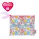 ViVi × Carebears ラメ入りフラットポーチL ピンク