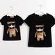 B127 Cool bear satads family t-shirt