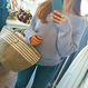 ginger and sprout(ジンジャーアンドスプラウト)/ OFF SHOULDER KNIT