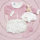 【juliedausell】ruffle bloomer white flower