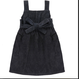 【little cotton clothes 】TABITHA  PINAFORE  SLATE CHUNKY CORD