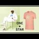 ONE STAR x GOLF LE FLEUR T-SHIRT - Peach