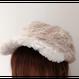 ファーキャスケット帽