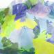 Flower base printスカーフ/ブルー