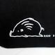 ミニトートバッグ (両サイドポケット)ブラック  (うりぼう)