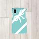 Android/ iphone Plusティファニーブルーのコーナーリボン柄♡スマフォケース・♪Android&iPhone 6Plus/6sPlus/7Plus/8Plus対応