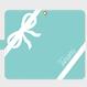 iphone plus&AndroidL★名入れオプション可!手帳型コーナリボン柄スマフォケース・ティファニーブルー色