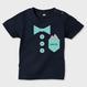 お名前入り!Tシャツカラー濃色・ベビー・フェイク蝶ネクタイTシャツ~サイズ80・90