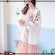 花刺繍ニットカーディガン