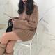 ハイネックルースピットセーター