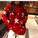ジャカールスターデザインセーター