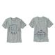 もの凄い鯖(ものすごい鯖)のTシャツ ORGANIC COTTON (グレイ)