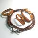 フトアゴ用レザーハーネスセット-ラメオレンジ(TYPE-01-RO01-SET)