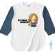 ファックーMAYAーオープンエンドベースボールTシャツ