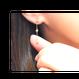 【アウトレット残り1点】ダイヤ フクリンピアス K18イエローゴールド