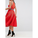 A-line Sporty Top Midi Dress In Red (Aラインストリートミディワンピ)