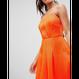 A-line Tube Top Mini Dress In Orange (Aラインチューブトップミニワンピ)