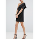 【2色!!】One Shoulder Mini Dress In Scuba With Asymmetric Frill (アシンメトリーフリル ワンショルダーワンピ)