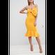 【Back In Stock!!再入荷】Bow Front Pephem Midi Dress (リボンデザイン ペプラムワンピ)